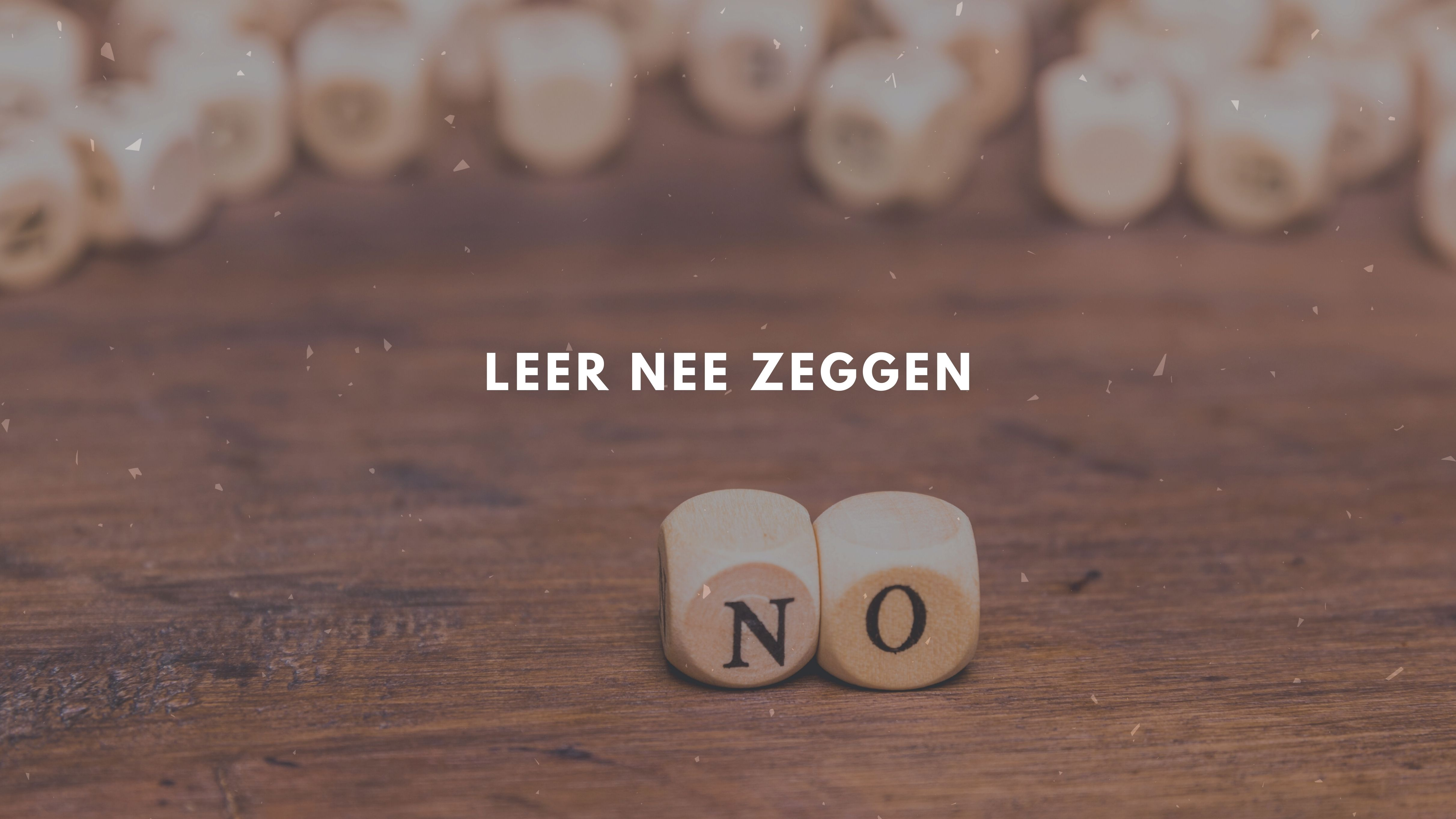 Leer nee zeggen